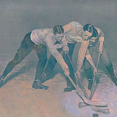 iCanvas Canada Vintage Hockey Game #3 Painting Print on Wrapped Canvas; 37'' H x 37'' W x 1.5'' D