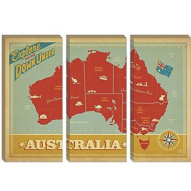 iCanvas 'Explore Down Under, Australia' by Anderson Design Group Vintage Advertisement on Canvas