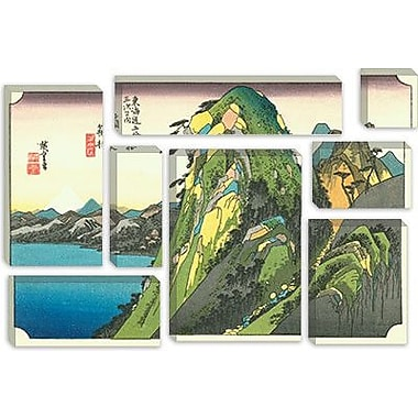 iCanvas Ando Hiroshige 'Hakone (Lake View)' by Utagawa Hiroshige l Graphic Art on Canvas