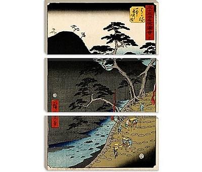 iCanvas 'Hakone' by Utagawa Hiroshige Painting Print on Canvas; 26'' H x 18'' W x 0.75'' D