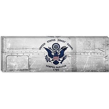 iCanvas Coast Guard Flag, Metal Rivets Panoramic Graphic Art on Canvas; 12'' H x 36'' W x 1.5'' D
