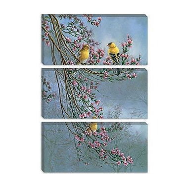 iCanvas 'Gold Finches' by Wanda Mumm Photographic Print on Canvas; 26'' H x 18'' W x 1.5'' D