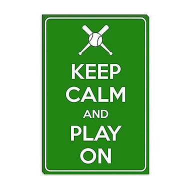 iCanvas Keep Calm and Play on Graphic Art on Canvas; 18'' H x 12'' W x 1.5'' D