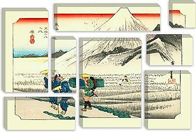 iCanvas 'Hara' by Utagawa Hiroshige Painting Print on Canvas; 26'' H x 40'' W x 0.75'' D