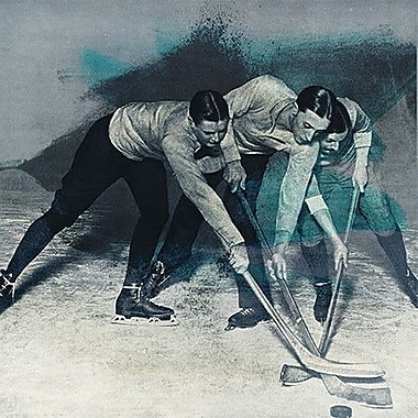 iCanvas Canada Vintage Hockey Game Painting Print on Wrapped Canvas; 12'' H x 12'' W x 1.5'' D