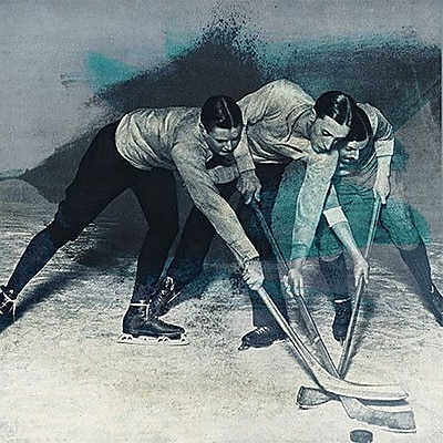 iCanvas Canada Vintage Hockey Game Painting Print on Wrapped Canvas; 37'' H x 37'' W x 0.75'' D