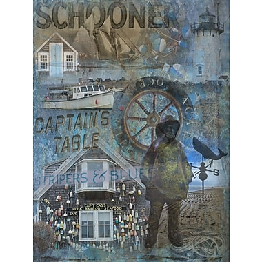 Graffitee Studios Nautical Captain's Table Graphic Art on Wrapped Canvas