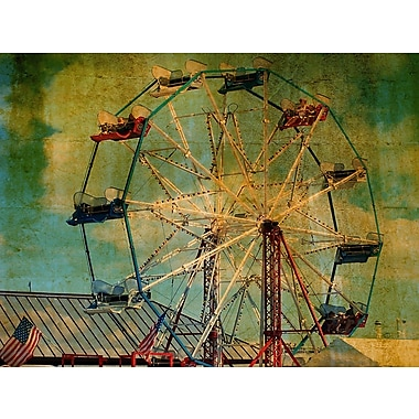 Graffitee Studios New York Ride The Ferris Wheel Painting Print on Wrapped Canvas