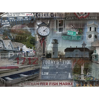 Graffitee Studios Cape Cod Today's Tide - Chatham Graphic Art on Wrapped Canvas