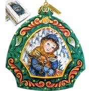 G Debrekht Girl w/ Deer Ornament