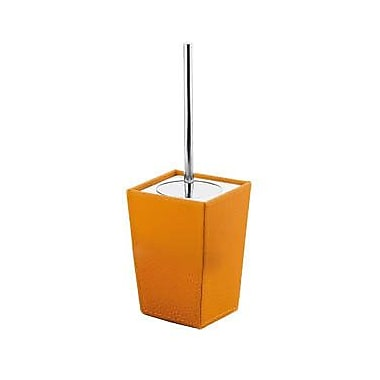 Gedy by Nameeks Kyoto Free Standing Toilet Brush and Holder; Orange