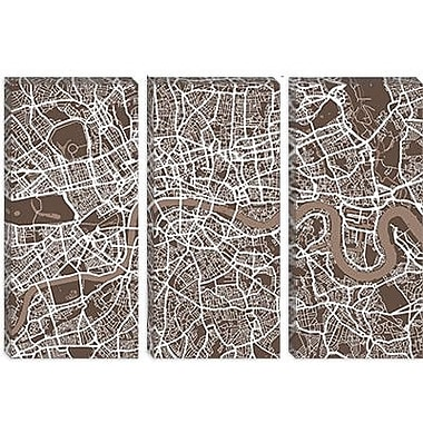 iCanvas 'London Map VII' by Michael Tompsett Graphic Art on Canvas; 18'' H x 26'' W x 1.5'' D