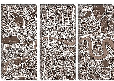 iCanvas 'London Map VII' by Michael Tompsett Graphic Art on Canvas; 12'' H x 18'' W x 0.75'' D