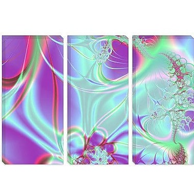 iCanvas Digital 'Neon Explosion' Graphic Art on Canvas; 18'' H x 26'' W x 0.75'' D