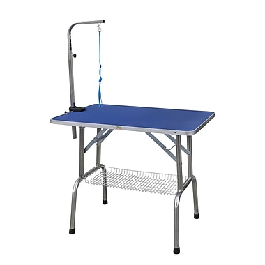 Go Pet Club Heavy Duty Stainless Steel Pet Grooming Table w/ Arm; 31'' H x 36'' W x 24'' L