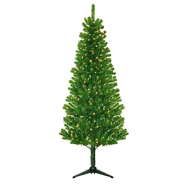 General Foam Plastics Morrison 6.5' Green Artificial Christmas Tree w/ 250 Clear Lights