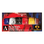 Grumbacher Academy Acrylic Paint (Set of 6)
