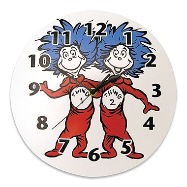 Trend Lab Dr. Seuss Cat in the Hat Thing 1 and Thing 2 Wall Clock