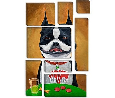 iCanvas 'BT Poker' by Brian Rubenacker Painting Print on Canvas; 18'' H x 12'' W x 0.75'' D