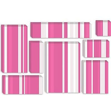 iCanvas Striped Bubblegum Milkshake Graphic Art on Canvas; 26'' H x 40'' W x 1.5'' D