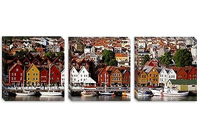 iCanvas Panoramic Bergen, Norway Photographic Print on Canvas; 20'' H x 60'' W x 0.75'' D