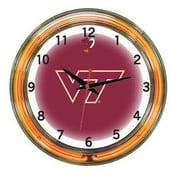 Wave 7 NCAA 18'' Team Neon Wall Clock; Virginia Tech