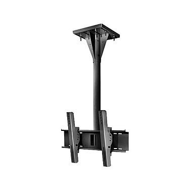Peerless-AVMD – Support de plafond résistant au vent ECMU-02-I 2 po sur poutre en L pour écran plat, cap. 200 lb, noir