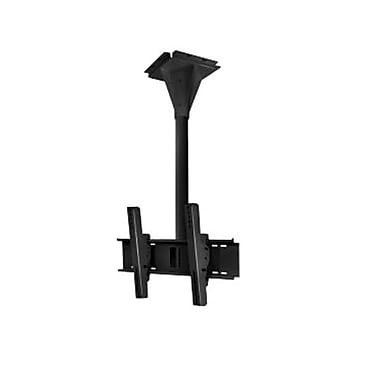Peerless-AVMD – Support de plafond pivotant résistant au vent ECMU-02-C de 1 po sur béton pour écran plat, cap. 200 lb, noir