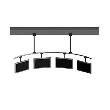 Peerless-AVMD – Support de plafond à barre courbée multiécran MDJ701120, capacité de 1000 lb, noir