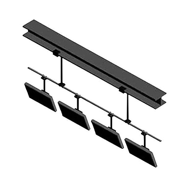 Peerless-AVMD – Support de plafond à barre en rangée multiécran MDJ720240, capacité de 1000 lb, noir