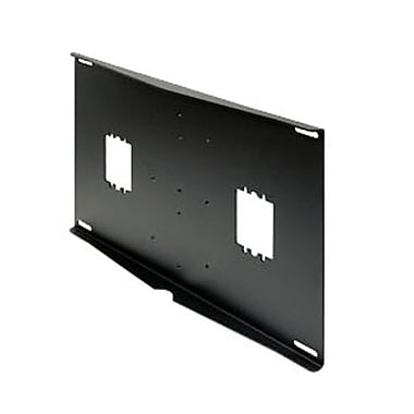 Peerless-AV® Double Stud Flat Panel and CRT Mount External Wall Plate, Black