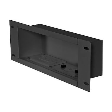 Peerless-AV® IBA3AC Recessed Cable Management and Power Storage Accessory In-Wall Box, Black