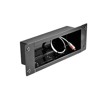 Peerless-AV® IBA3 Recessed Cable Management and Power Storage Accessory In-Wall Box, Black