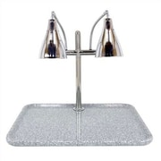 Buffet Enhancements Stainless Steel Dual Gooseneck Lamp Square Carving Station