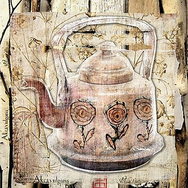 iCanvas 'Tea Pot' by Luz Graphics Graphic Art on Wrapped Canvas; 26'' H x 26'' W x 0.75'' D