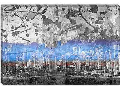 iCanvas Vancouver, Canada Skyline 2 Graphic Art on Canvas; 40'' H x 60'' W x 1.5'' D