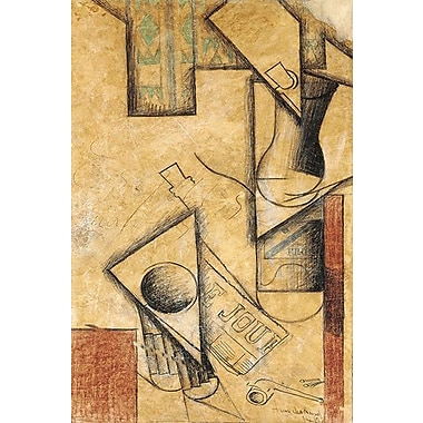 iCanvas 'Still Life, 1911' by Juan Gris Painting Print on Wrapped Canvas; 60'' H x 40'' W x 1.5'' D