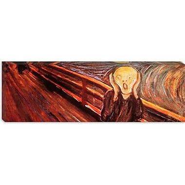 iCanvas 'The Scream' Panoramic by Edvard Munch Painting Print on Wrapped Canvas