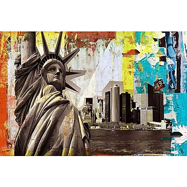 iCanvas 'Statue of Liberty' by Luz Graphic Art on Wrapped Canvas; 12'' H x 18'' W x 1.5'' D