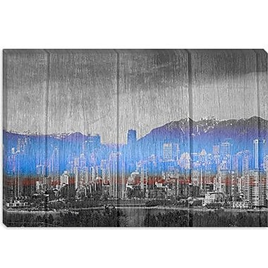 iCanvas Vancouver, Canada Skyline Graphic Art on Canvas; 26'' H x 40'' W x 1.5'' D
