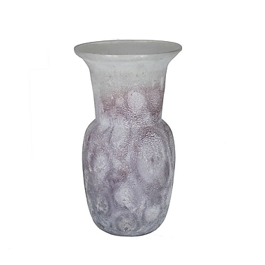 Entrada Frosted Flower Vase; 11'' H x 6'' W x 6'' D