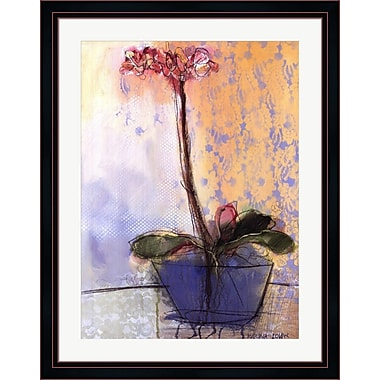 Evive Designs Orchid and Lace II by Marina Louw Framed Painting Print