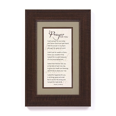 The James Lawrence Company I Said a Prayer by Frank J. Zamboni Framed Textual Art