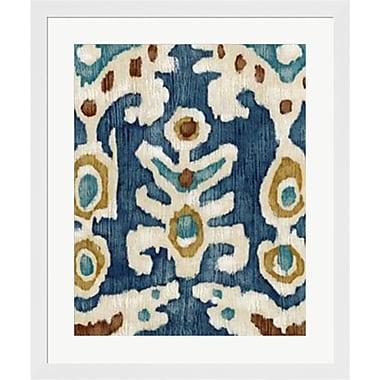Evive Designs Ocean Ikat III by Chariklia Zarris Framed Painting Print