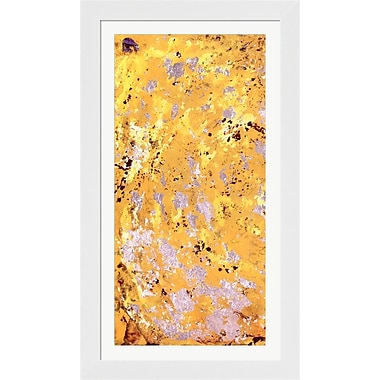 Evive Designs Silvery Yellow I by Natalie Avondet Framed Painting Print