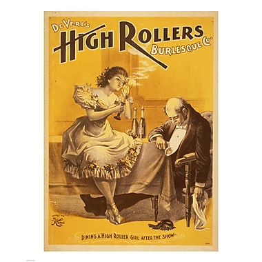 Evive Designs Dining a High Roller Girl after the Show Vintage Advertisement