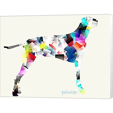 Evive Designs Pointer by Bri Buckley Graphic Art on Canvas
