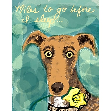 Evive Designs Dog w/ Flower by Holly McGee Painting Print