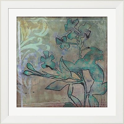 Evive Designs Teal Extraction II by Jennifer Goldberger Framed Painting Print