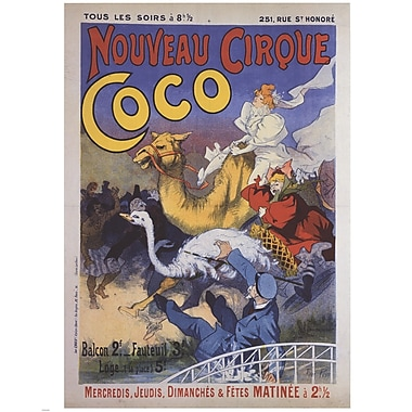 Evive Designs Nouveau Cirque Coco Vintage Advertisement